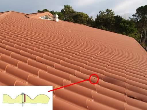 correcta colocacion de paneles teja