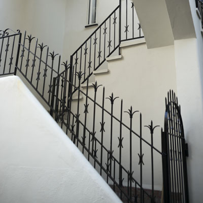 Low angle view of staircase, Ischia Island, Campania, Italy