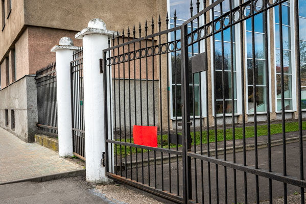 metal-gates-in-front-of-the-administrative-building